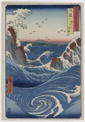 Utagawa Hiroshige  Awa. I gorghi di Naruto 1855 355 x 247 mm silografia policroma Museum of Fine Arts, Boston - William Sturgis Bigelow Collection
