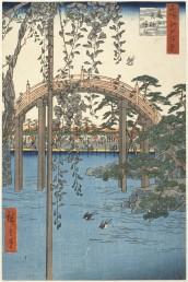Utagawa Hiroshige  Kameido. L'area antistante il santuario Tenjin 1856 356 x 242 mm silografia policroma Museum of Fine Arts, Boston - Gift of Dr. G. S. Amsden