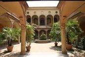 Il cortile del Museo Civico Archeologico