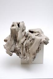 Carlo Zauli, Cubo esploso, 1977, grès, cm 62x28x24