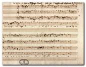 Wolfgang Amadeus Mozart, Quaerite primum regnum dei, antifona ms., 1770  ('esame di ammissione alla Regia Accademia Filarmonica di Bologna)