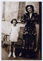 La piccola Zara con la mamma