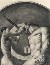 La kylix di Teseo (disegno di Elena M. Cané)