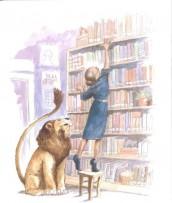 Un leone in biblioteca di M. Knudsen - Ed. Nord-Sud