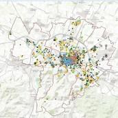 Mappa sulla densità Culturale della città