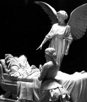 Enrico Barberi, Monumento Bisteghi, 1891, Certosa di Bologna, Galleria degli Angeli