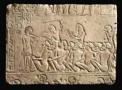 Rilievi con prigionieri Nubiani controllati da soldati egiziani, XVIII dinastia, Saqqara, Tomba di Horemheb, Museo Civico Archeologico, Bologna
