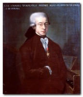 Ignoto pittore XVIII sec,. ritratto di Wolfgang Amadeus Mozart