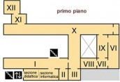 Pianta del primo piano del Museo