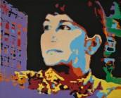 Ann Tardos, Sunset Rosanna, ritratto eseguito a New York, 1990, serigrafia su tela, 60 x 75 cm, © Ann Tardos