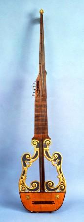 iorba in forma di khitara, Italia, fine sec. XVI-inizio sec. XVII