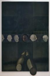 Gianni Turin, Nero assoluto, 2008, polimaterico su tela