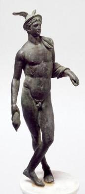 Statuetta in bronzo di Mercurio
