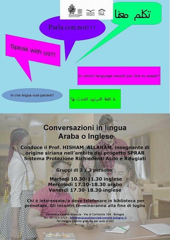 Conversazioni In Lingua Araba O Inglese Eventi Istituzione
