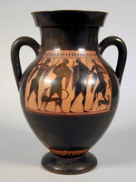 Anfora attica a figure nere(Lato A)