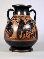 Pelike attica a figure nere(Lato A)