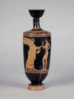 Lekythos attica a figure rosse(Fronte)