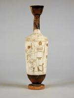 Lekythos attica a fondo bianco(Fronte)