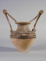 Trozzella messapica a decorazione monocroma(Lato A)