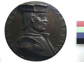 Medaglia in bronzo di scuola bolognese per Ercole Marescotti(Fronte)