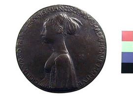 Medaglia in bronzo di Pisanello per Cecilia Gonzaga(Fronte)