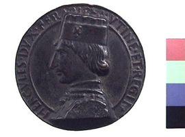 Medaglia in bronzo di Lodovico Coradini per Ercole I d'Este(Fronte)