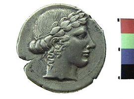 Tetradracma in argento di Leontini(Fronte)