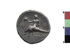 Didracma in argento di Taranto(Fronte)