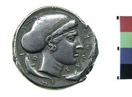 Tetradracma in argento di Siracusa(Fronte)