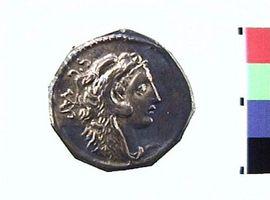Denario in argento di Faustus Cornelius Sulla(Fronte)