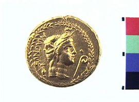 Aureo di Pompeo Magno(Fronte)
