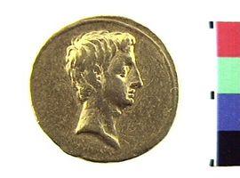Aureo di Augusto(Fronte)