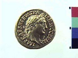 Aureo di Traiano(Fronte)