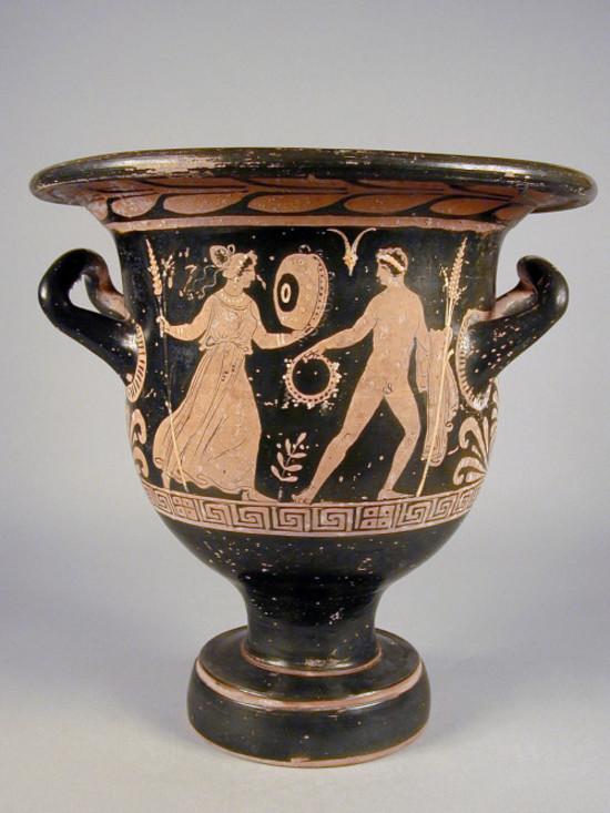 Cratere a campana apulo a figure rosse collezioni online for Vaso greco a due anse