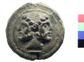 Asse in bronzo con Giano bifronte, Museo Civico Archeologico