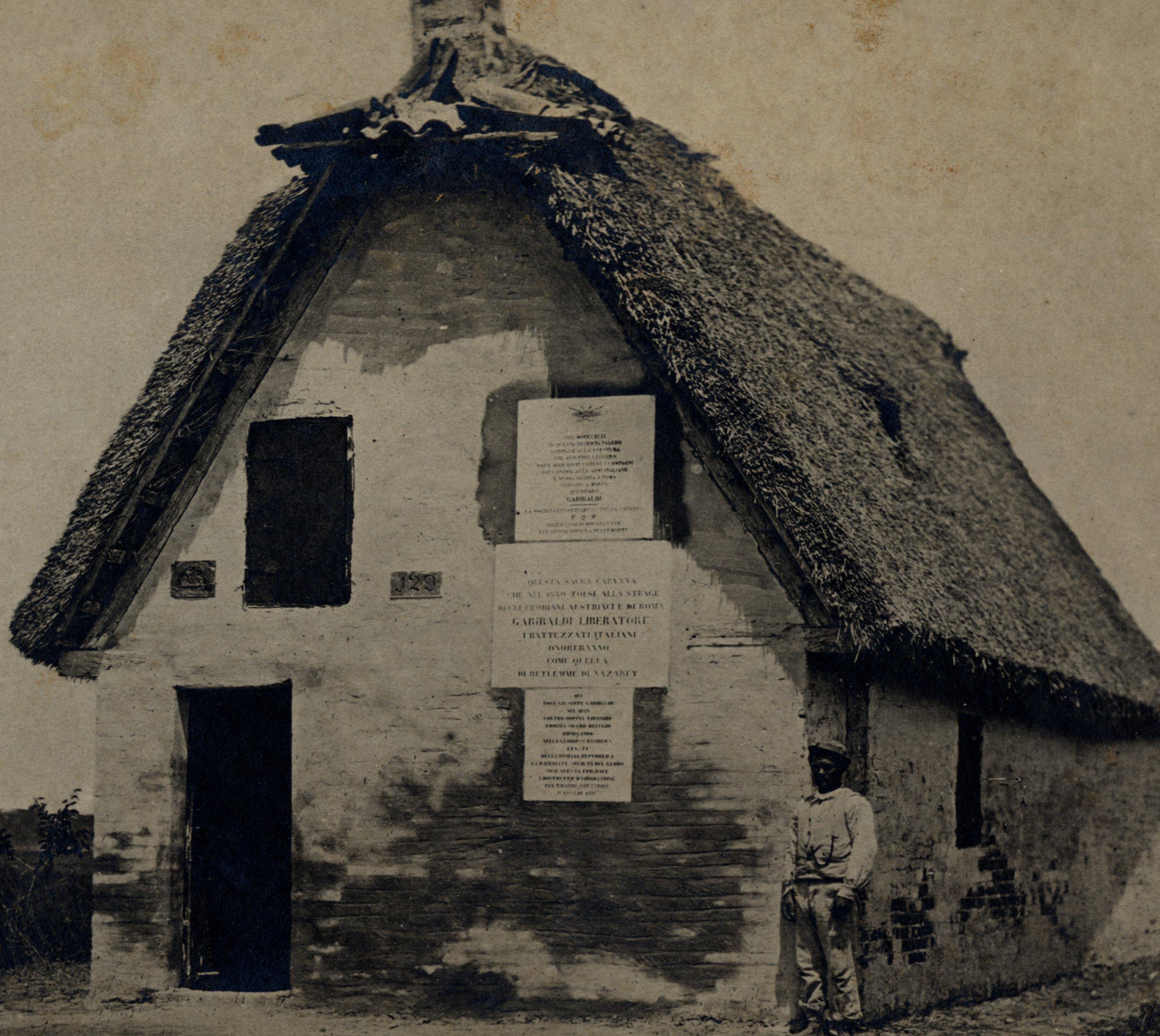 Capanno presso la Pineta San Vitale (Ravenna) dove Garibaldi si rifugiò tra il 6 e il 7 agosto 1849