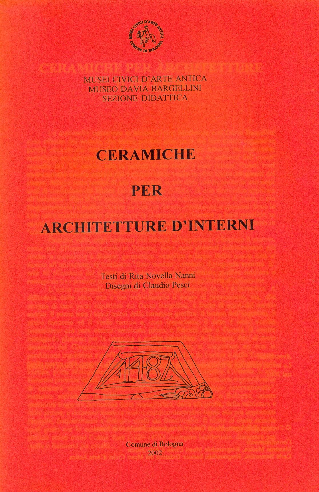 Ceramiche per architetture d'interni Bologna, 2002
