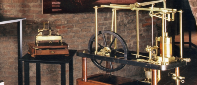 Model of steam engine from the Collection Aldini