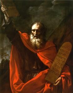 Mosé con le tavole della legge, olio su tela di Guido Reni (1575 - 1642)