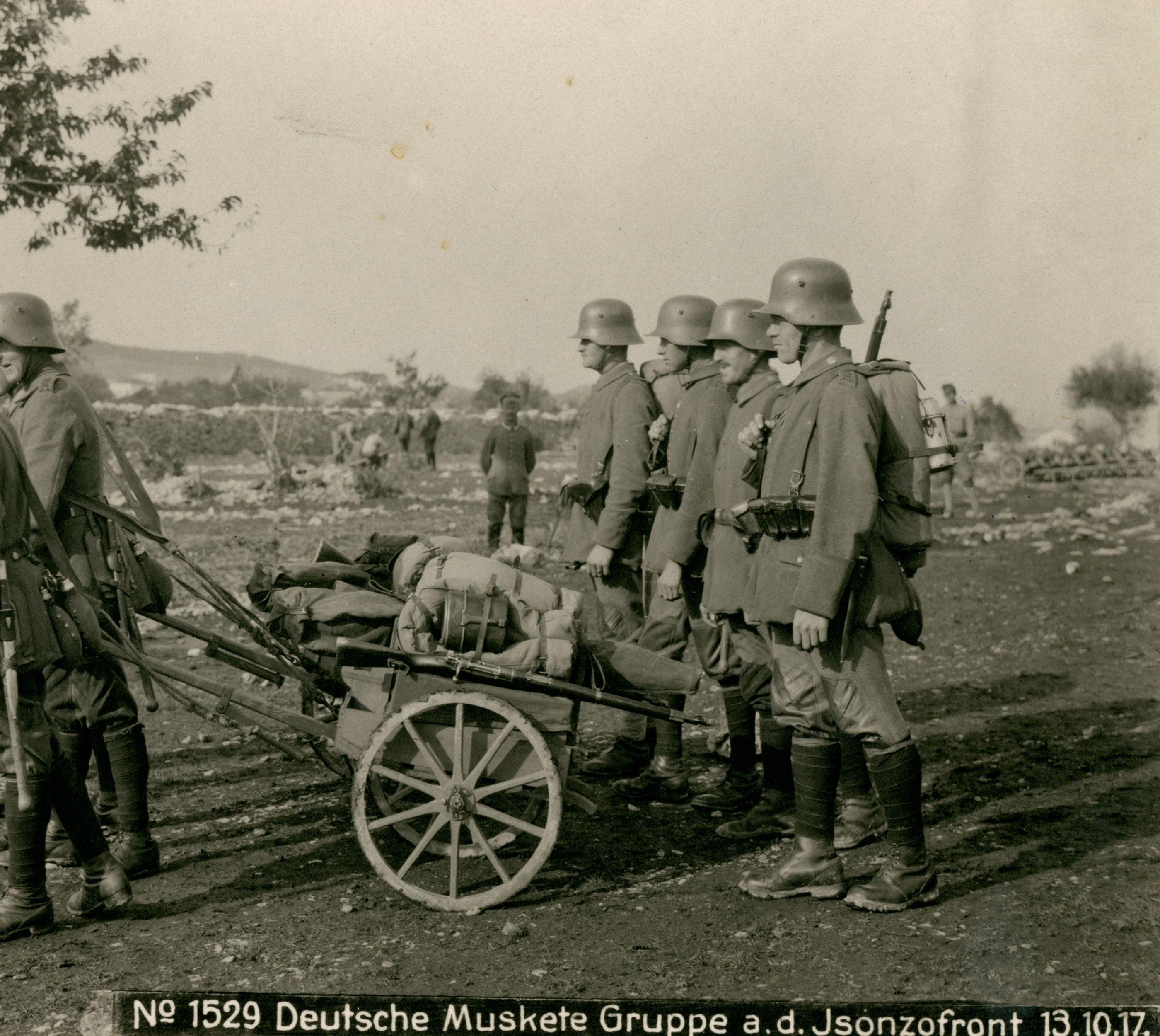 Soldati tedeschi sul fronte dell'Isonzo, 1917