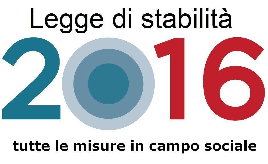 Legge di stabilità 2016: le misure in campo sociale