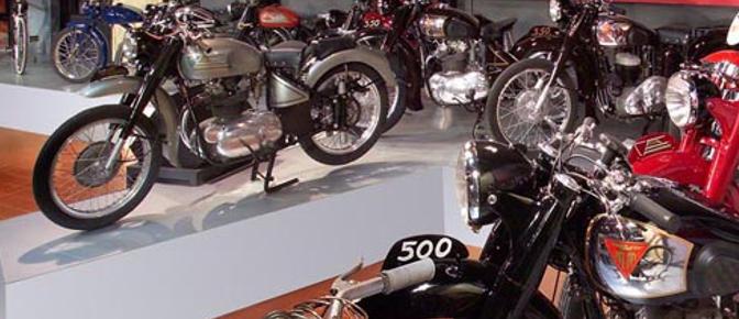 Allestimento mostra Moto bolognesi del Dopoguerra