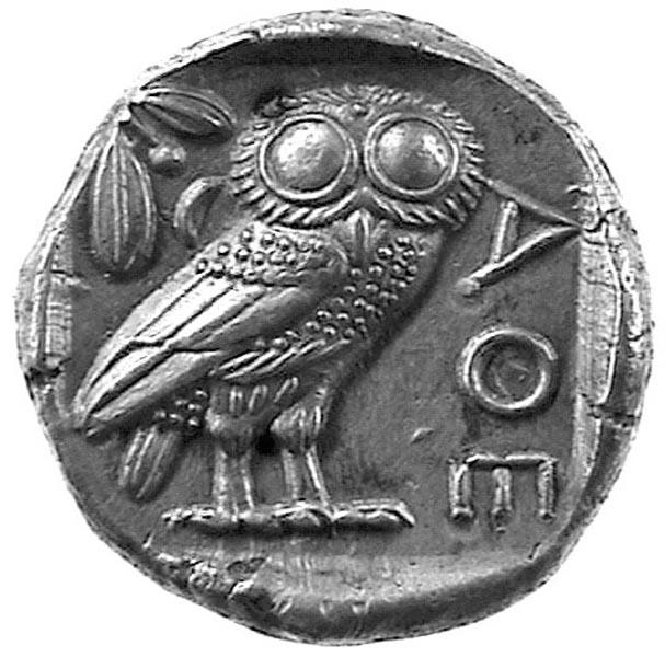 moneta in argento di Atene