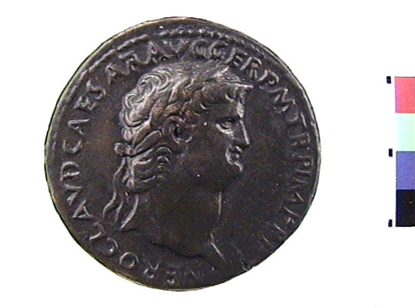 Moneta in argento di Nerone, Museo Civico Archeologico