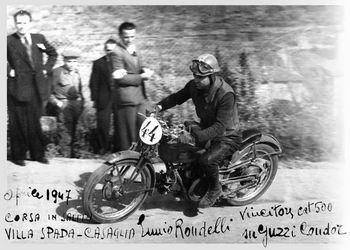 E. Ruffini, ENNIO RONDELLI: MOTOCICLISTA DI LUNGO CORSO