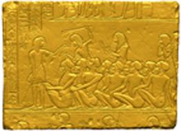 il rilievo di horemheb durante le fasi di prototipazione
