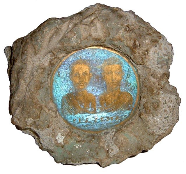 Vetro dorato paleocristiano, Museo Cvico Archeologico