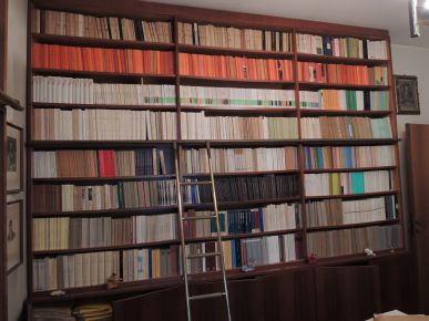 Una libreria della biblioteca di Mario Saccenti