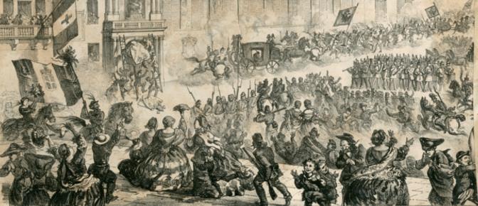Partenza degli austriaci da Bologna il 12 giugno 1859