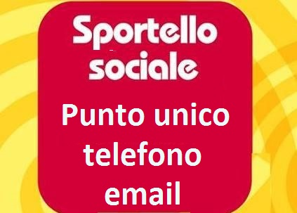 Sportelli sociali: punto unico telefonico e email